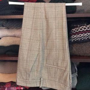 Zara high waisted plaid pants